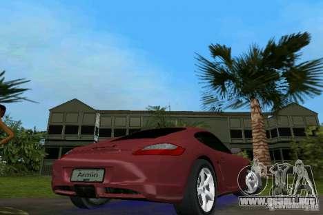 Porsche Cayman para GTA Vice City vista lateral izquierdo
