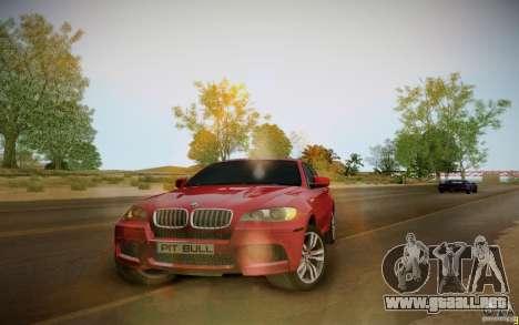 BMW X6 v1.1 para GTA San Andreas vista posterior izquierda