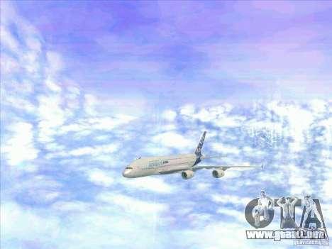 Airbus A380-800 para la vista superior GTA San Andreas