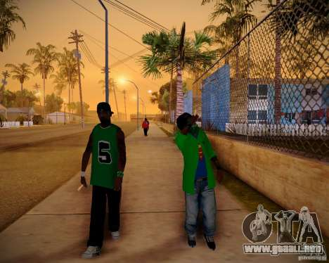 Skins pack gang Grove para GTA San Andreas tercera pantalla