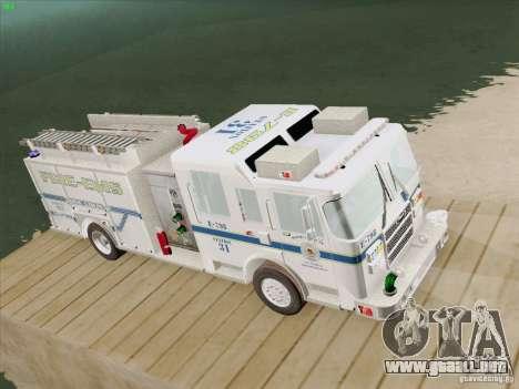 Pierce Pumpers. B.C.F.D. FIRE-EMS para GTA San Andreas vista hacia atrás