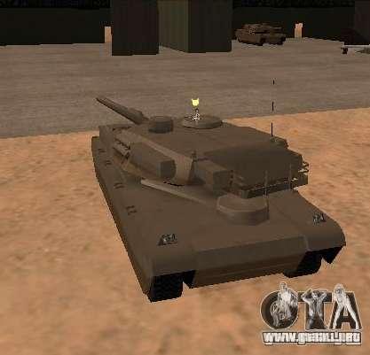 La ametralladora del tanque para GTA San Andreas segunda pantalla