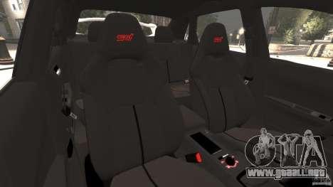 Subaru Impreza WRX STi 2011 G4S Estonia para GTA 4 vista superior