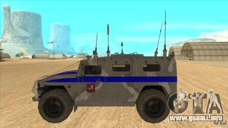 GAS-23034 SPM-1 tigre para GTA San Andreas left