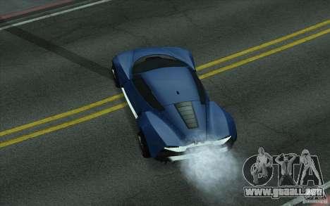 Marussia B2 2010 para GTA San Andreas vista posterior izquierda