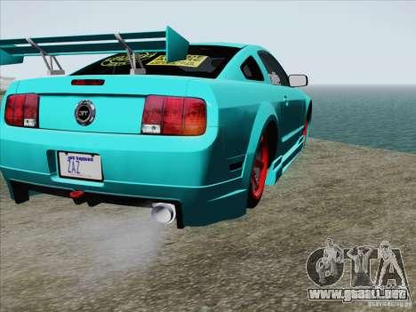 Ford Mustang GT Lowlife para la vista superior GTA San Andreas