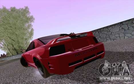 Ford Mustang SVT Cobra 2003 Black wheels para la visión correcta GTA San Andreas