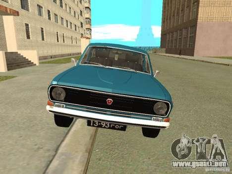 Volga GAZ 24-12 para GTA San Andreas vista posterior izquierda