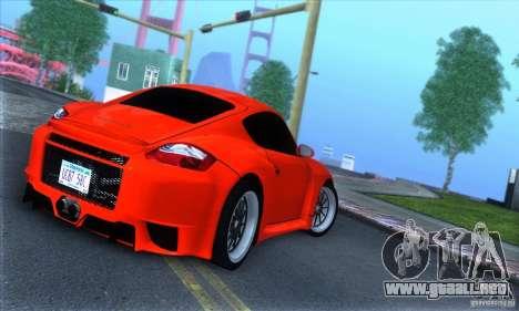 Porsche Cayman S v2 para la visión correcta GTA San Andreas