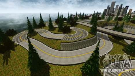 Edem Hill Drift Track para GTA 4 adelante de pantalla