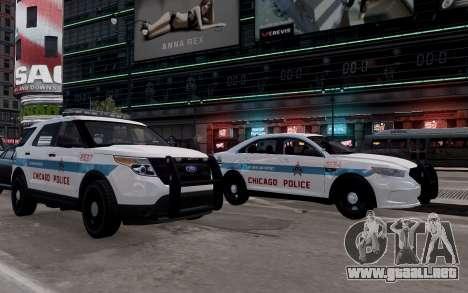 Ford Explorer Chicago Police 2013 para GTA 4 visión correcta