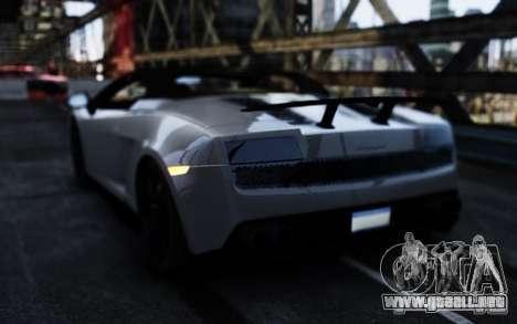 Lamborghini Gallardo LP570-4 Spyder para GTA 4 Vista posterior izquierda