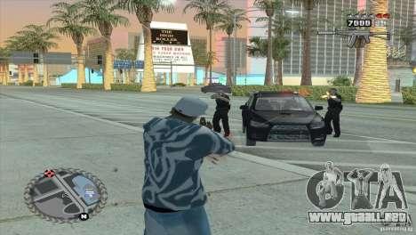 HUD ultra moderno para GTA San Andreas sucesivamente de pantalla