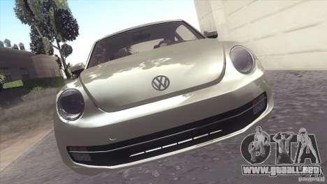 Volkswagen Beetle Turbo 2012 para GTA San Andreas vista hacia atrás