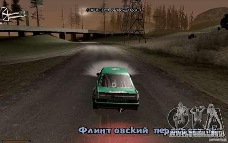 Nuevo tipo de letra para GTA San Andreas quinta pantalla