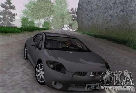 Mitsubishi Eclipse GT V6 para GTA San Andreas vista posterior izquierda
