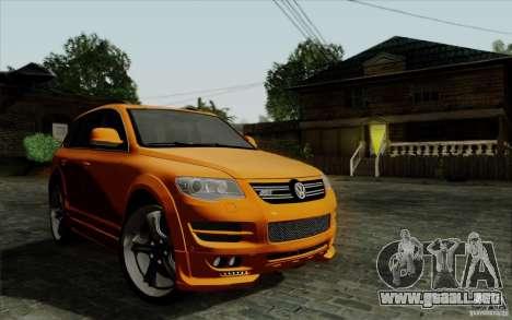 Volkswagen Touareg R50 Light para visión interna GTA San Andreas