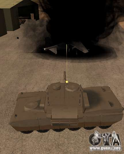 La ametralladora del tanque para GTA San Andreas tercera pantalla