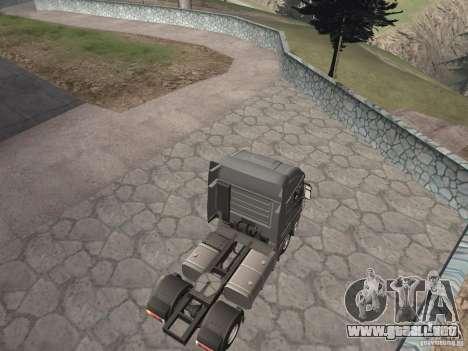 Iveco Stralis GTS para GTA San Andreas vista posterior izquierda