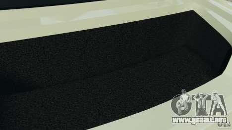 Nissan GT-R 2012 Black Edition para GTA 4 vista desde abajo