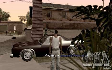 Nuevo tipo de letra para GTA San Andreas séptima pantalla