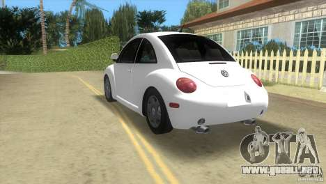 VW New Beetle para GTA Vice City vista posterior