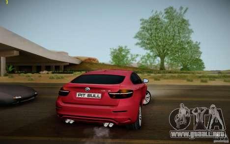 BMW X6 v1.1 para la visión correcta GTA San Andreas