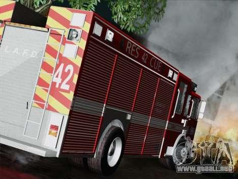 Pierce Contender LAFD Rescue 42 para la visión correcta GTA San Andreas
