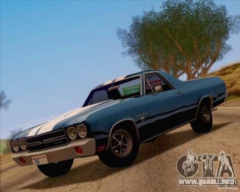 Chevrolet EL Camino SS 70 para GTA San Andreas vista hacia atrás