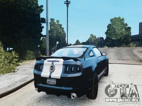 Ford Mustang GT 2013 para GTA 4 Vista posterior izquierda