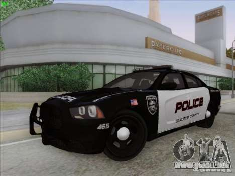 Dodge Charger 2012 Police para visión interna GTA San Andreas