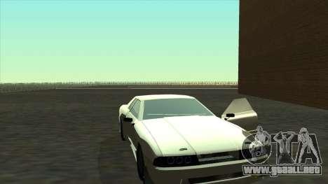 Elegy Roportuance para GTA San Andreas vista posterior izquierda