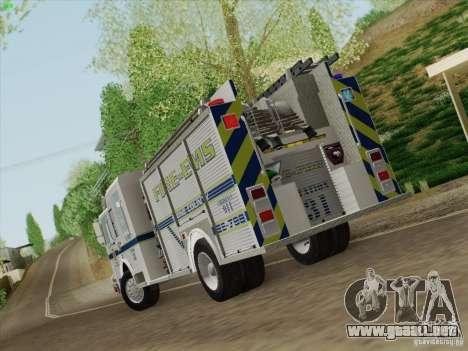 Pierce Pumpers. B.C.F.D. FIRE-EMS para la visión correcta GTA San Andreas