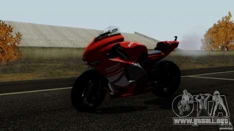 Ducati Desmosedici RR para GTA San Andreas vista posterior izquierda