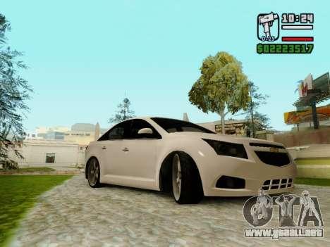 Chevrolet Cruze para GTA San Andreas vista posterior izquierda