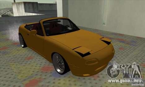 Mazda MX-5 para GTA San Andreas vista posterior izquierda