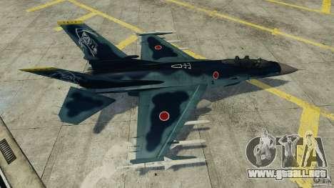 Fighterjet para GTA 4 vista hacia atrás