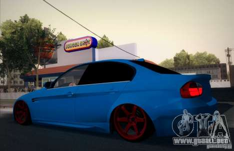 BMW M3 E90 para la vista superior GTA San Andreas