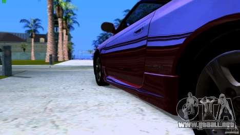 Nissan Silvia S15 Varietta para GTA San Andreas vista posterior izquierda