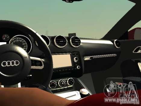 Audi TT-RS Coupe 2011 v.2.0 para visión interna GTA San Andreas