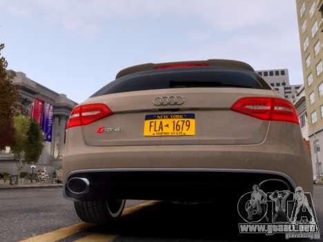 Audi RS4 Avant 2013 para GTA 4 visión correcta