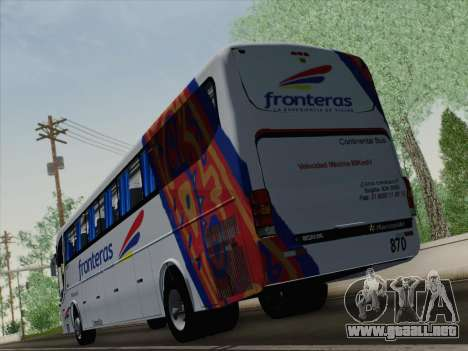Marcopolo Paradiso 1200 G6 para el motor de GTA San Andreas