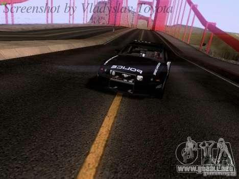 Ford Mustang GT 2011 Police Enforcement para la visión correcta GTA San Andreas