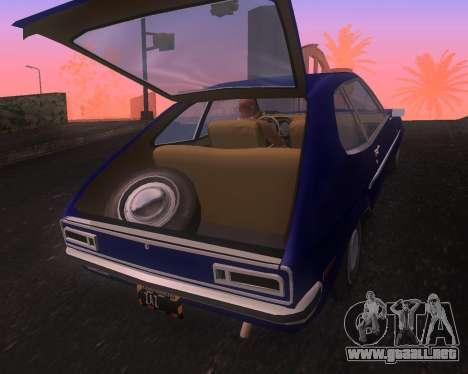 Ford Pinto 1973 Final para la visión correcta GTA San Andreas