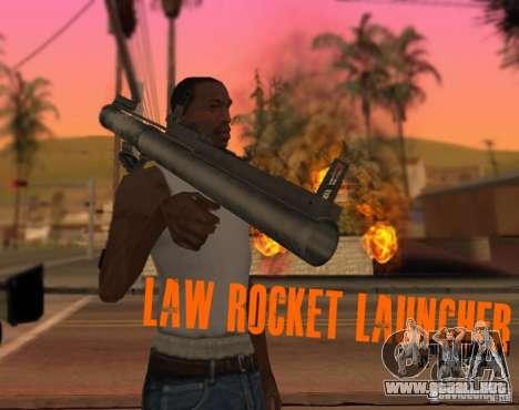 LAW Rocket Launcher Retextured para GTA San Andreas segunda pantalla