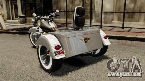 Harley-Davidson Trike para GTA 4 Vista posterior izquierda