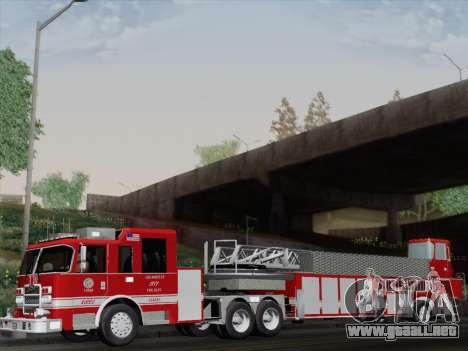 Pierce Arrow XT LAFD Tiller Ladder Truck 10 para GTA San Andreas vista hacia atrás