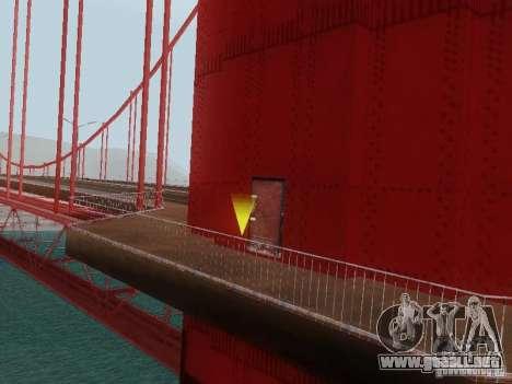 Subir el puente Golden Gate para GTA San Andreas quinta pantalla