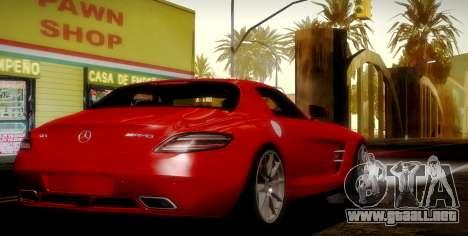 Mercedes-Benz SLS AMG 2010 para la vista superior GTA San Andreas