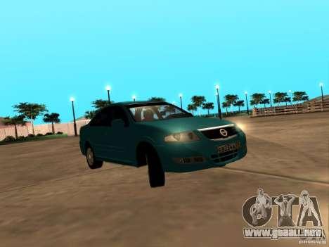 Nissan Almera Classic para GTA San Andreas vista posterior izquierda